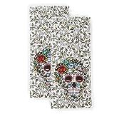 Fiesta Skull & Vine Kitchen Towel Set, 16'x28', Multi 2 Count