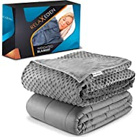 Relaxeden Adult Weighted Blanket with Washable Duvet Cover