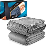 "RELAX EDEN Adult Weighted Blanket W/Removable, Washable Duvet Cover| 15 lbs, 60""x 80"" Size