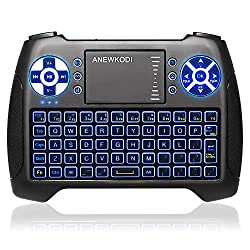 98c6b21cf29 ... Mini Wireless Keyboard with Touchpad Mouse Combo, Rechargable Li-Ion  Battery & Multi-Media Handheld Remote for Google Android TV Box, PS3, PC,  Pad
