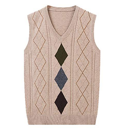 Suéter de punto para hombre con cuello en V sin mangas