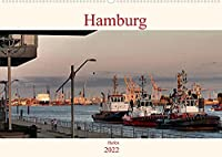 Hamburg Hafen (Wandkalender 2022 DIN A2 quer): Stimmungsvolle Bilder von Schiffen und der Elbe aufgenommen im Hamburger Hafen (Monatskalender, 14 Seiten )