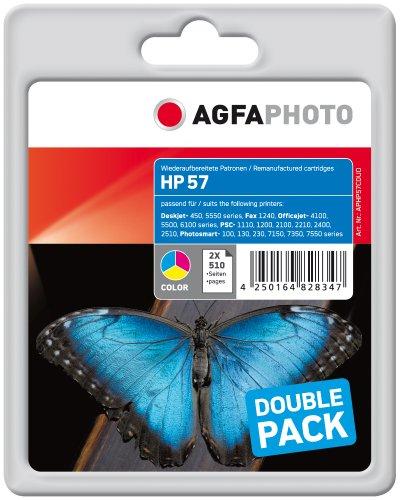 Agfa Photo APHP57CDUO Tinte für HP PSC1210, 24 ml, farbig, 2xcolor