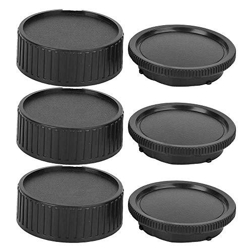Yuyanshop Kit de cubierta de lente de cámara portátil Kit de cubierta de lente de cuerpo ligero a prueba de polvo resistente a los arañazos ajuste para Leica M Mount