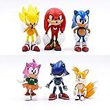 Sonic Figures Juguete Nuevo 6pcs/Set 7cm Sonic Figures Juguete PVC Juguete Sonic Shadow Tails Personajes Figura Juguetes para Niños Animales Juguetes Set