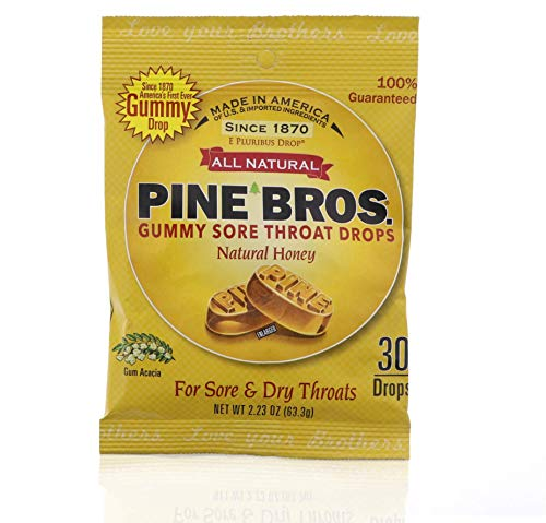 Softish Throat Drops Natural Honey - 30 Count, Pack of 6