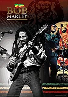 Poster 3D Lenticular BOB Marley - Playing Guitar - 8x10 - Ready to Hang or Frame