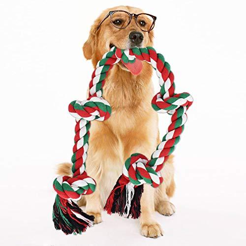 RIO Direct - Corda giocattolo per cani forti e grandi, robusta corda a 5 nodi, giocattolo da masticare per cani aggressivi, giocattolo interattivo da masticare da 36 cm, per cani di grandi dimensioni