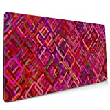 BriaPa Pattern Mosaic Luxury Large Size 40x90cm Mouse Pad Desktop Laptop Desk Mat for Working and Gaming-215
