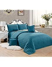 طقم لحاف مضغوط وجهين مفرش سرير 6 قطع, مقاس مزدوج - ST-003