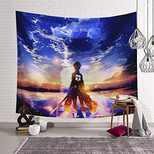 STTYE Attack on Titan Anime Taperst para dormitorio estético con temática de anime decoraciones para el hogar para sala de estar o dormitorio 150 x 210 cm