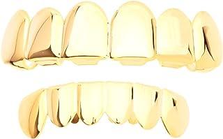 Grillz - Set di denti finti, colore: oro