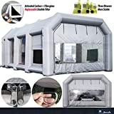 Inflatable Paint Booth 30x20x13Ft with 1X750W+2X950W Blowers Sewinfla Inflatable Spray Booth Portable Car Painting Booth Tent for Car Garage Upgrade More Durable with Air Filter System
