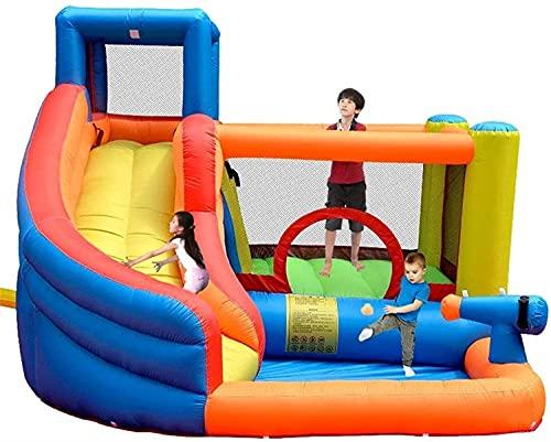 wangYUEQ Kids Bouncy Castle Castillo Inflable Castillo Interior y al Aire Libre Diapositiva Plaza Plaza Naughty Castillo Cama Grande Bounce Bouncer Bouncer (280 * 320 * 210cm)