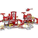 MAJOZ0 Aparcamiento para niños, garaje con 4 minicoches y 1 avión, juguete para niños
