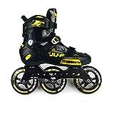 ME-Rollerns Patines en línea Semi-Solft Zapato con Ruedas de Tobillo Alto Chasis de Patina en línea para Carreras callejeras Patinaje Libre Yellow R5 3x110mm 39
