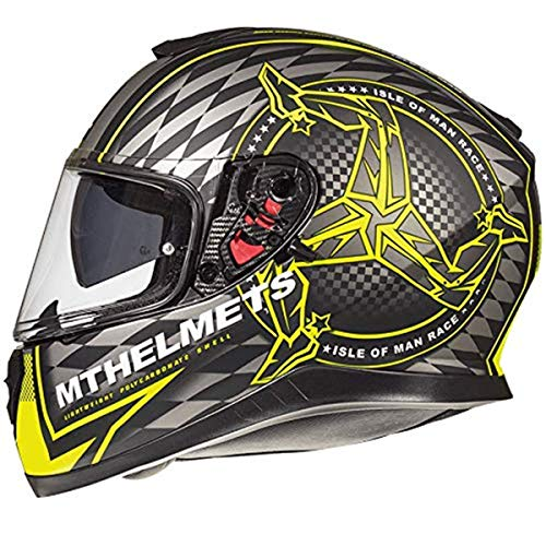 Casque Mt Thunder 3 Sv Isle of Man A3 Mate Fluor (M)