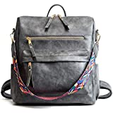 Yi-xir Classic Design Mochila de Cuero Retro Mochila de Mochila Bolsas Bolsa de Mujer Bolsa de Mujeres Paquete de Viaje Moda para pief Lightweight and Durable (Color : Grey, Size : 30 * 32 * 14cm)