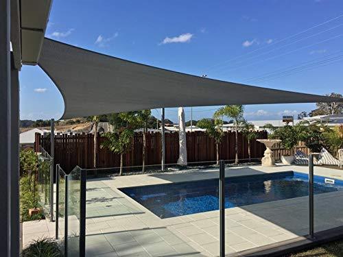 AXT SHADE Sonnensegel Wasserabweisend Dreieck 5x5x7m, Sonnenschutz imprägniert PES Polyester mit UV Schutz für Terrasse, Balkon und Garten- Graphit