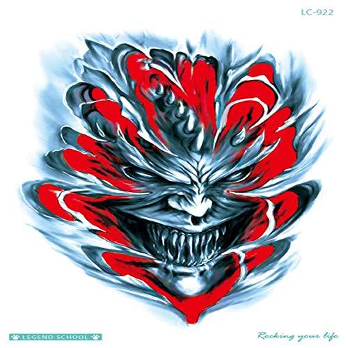 ZHAOSN Tattoo Aufkleber Uhr-Tätowierungs-Gewehr-Frauen-Grafik-Bunte Temporäre Tätowierungs-Aufkleber Der Körper-Kunst-Hd Halloween