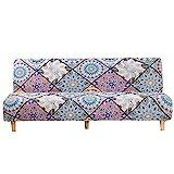 Mingfuxin - Fundas de sofá cama sin reposabrazos, antideslizantes, plegables, funda elástica, protectora para sofá de 2 a 3 plazas