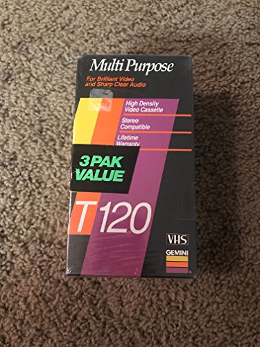 Best Price Gemini T120 VHS Tapes 3 Pack