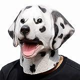CreepyParty Fiesta de Disfraces de Halloween Máscara de Cabeza de Látex Animal Dálmata Perro