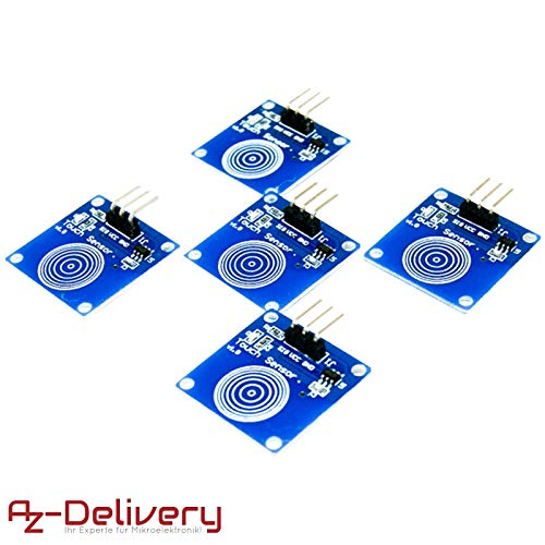 AZDelivery 5 x TTP223B Digitaler Kapazitiver Touch Sensor, Switch Modul für Arduino inklusive eBook!