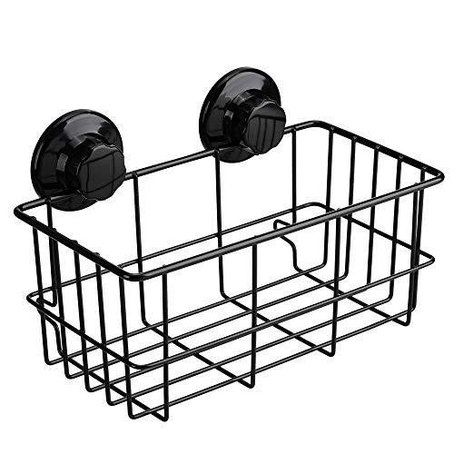 シャンプーラック シャワーラック 浴室ラック シャンプー置き 壁掛け収納ラック ワイヤーかご お風呂 真空吸着 強力吸盤 ステンレス