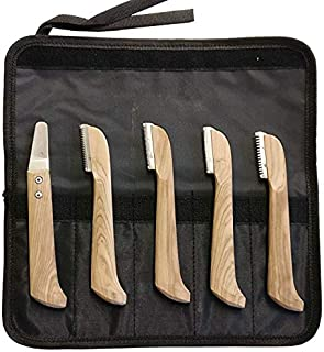 SiS EQUINOX Terriers Stripping Knifes Carding Knives Pet Combs for Dogs, Cats & Horses Coat