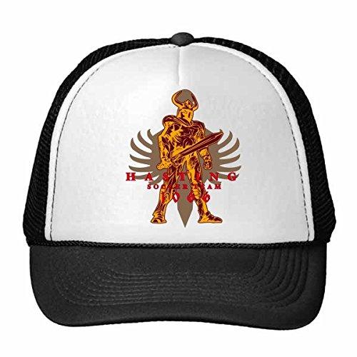 DIYthinker Middeleeuwen Cultuur Dappere Saber Warrior Totem Art Illustratie Patroon Trucker Hoed Baseball Cap Nylon Mesh Hoed Verstelbare Cap