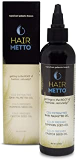 HAIRMETTO Saw Palmetto Oil (CO2 85-95%) for Hair Growth, Hair Regrowth, Alopecia, Hair Loss, Baldness Treat...