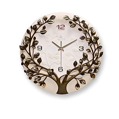 Horloge Murale 3D en Relief en Trois Dimensions Design Moderne numérique muet décor à la Maison pour Salon Accessoires de Bureau Cadeau, Vert