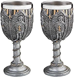 Design Toscano Legion of The King's Royal Gothic Set of Two Knights Goblet: Set of 2