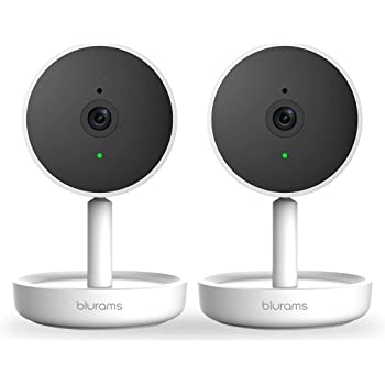 blurams Home Security Camera 1080p FHD | w/Facia Recognition, 2-Way Talk, Human/Sound Detect, Person Alert, Night Vision and Siren | Cloud/Local Storage Available, Works with Alexa 2pcs