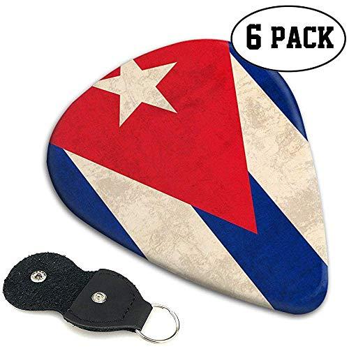 Cuba Flag Retro 351 Shape Classic Plektren aus Zelluloid 6er-Pack