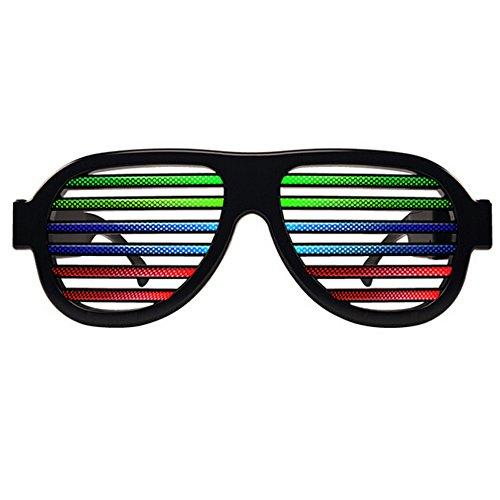Light Up Shutter Glasses, Sound Reactive - USB Rechargeable