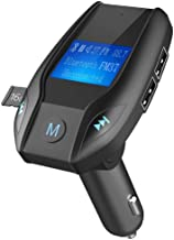 Blue-Tooth FM Transmitter Car MP3 Player Portable Wireless Radio Audio Adapter USB Car Charger Hands-Free Car Kit (Black)