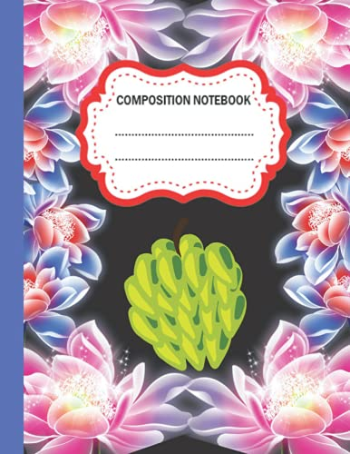 Cherimoya Composition Notebook: Wide Ruled Paper Notebook Journal | Cherimoya Composition Notebook For Students kids, teens, and adults