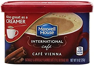 Maxwell House International Cafe CAFE VIENNA Flavored Instant Coffee 9 Oz. (2 Pack) by Maxwell House International Cafee CAFE VIENNA Flavored instant Coffee
