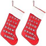 LZHJ Calcetines navideños, 2 Piezas de Calcetines navideño