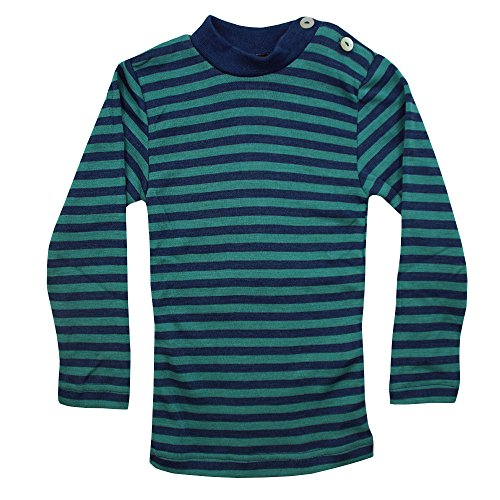 Engel Baby-Shirt, langarm, Gr:-62/68 Farbe:-Light ocean/Eisvogel