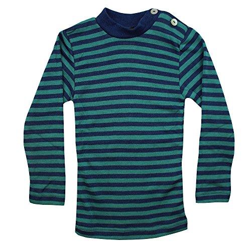 Baby-Shirt, langarm, Gr:-86/92 Farbe:-Light ocean/Eisvogel