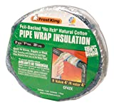 Frost King CF42X Foil Backed 'No Itch' Natural Cotton Pipe Wrap, 3-Inch x 1-Inch x 25-Feet