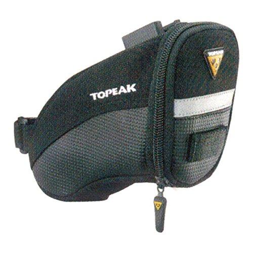TOPEAK AERO Wedge Pack Schlankes Design, Speziell Für Sportliche Sättel., Black, 19 x 9.5 x 10 cm, 1 Liter