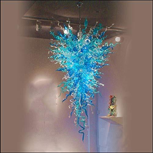 YUYAO Fuente del LED 100% Personalizado Decorativo Bastante Azul de Murano soplado Colgante de Cristal Lámparas LED para la decoración casera