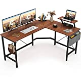 Cubiker Modern L-Shaped Computer Office Desk, Corner Gaming Desk with Monitor Stand, Home Office Study Writing Table...