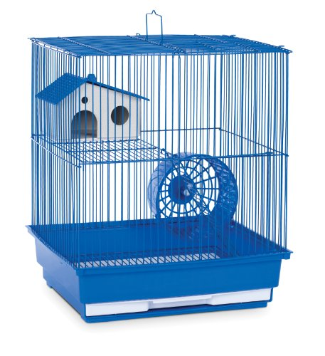 Prevue Hendryx SP2010B Two Story Hamster and Gerbil Cage, Blue,Small