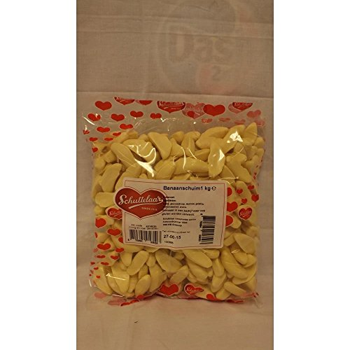 Schuttelaar Bonbon Banaanschuim 1000g Beutel (Bananen Schaumzucker)