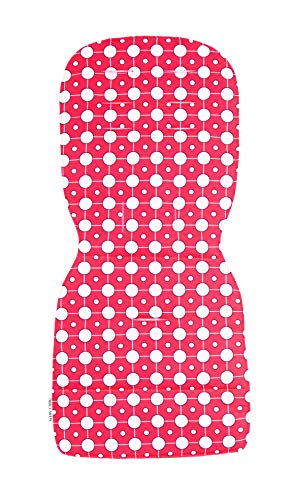 Maclaren Revestimiento de asiento atom, agregue estilo y comodidad con un revestimiento lavable a máquina, adhiere fácilmente a las correas del arnés de la Silla de paseo Atom Style Set, Rojo